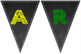 Year 1 Chalkboard Themed Bunting Sign