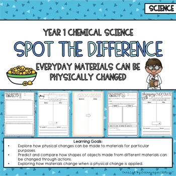 Year 1 Chemical Science Spot the Difference - Australian Curriculum