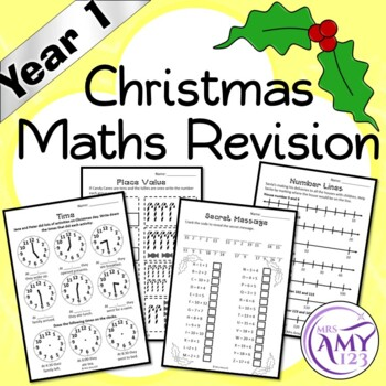 Year 1 Christmas Maths Revision - Australian Curriculum Aligned