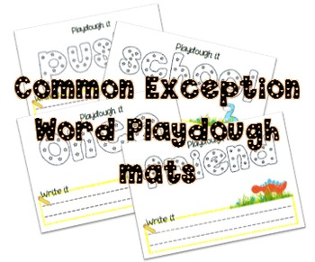 Year 1 Common Exception Word Playdough Make it mats