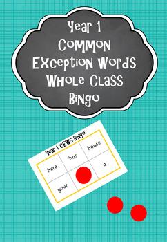 Year 1 Common Exception Words - Bingo