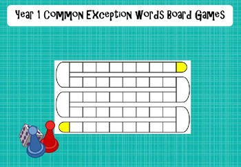 Year 1 Common Exception Words - Board Games