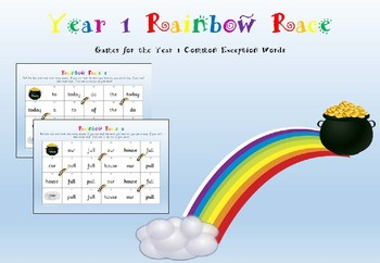 Year 1 Common Exception Words - Rainbow Race