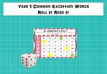 Year 1 Common Exception Words - Roll It Read It