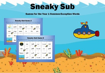 Year 1 Common Exception Words - Sneaky Sub