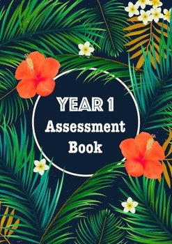 Year 1 Assessment Book Cover Tropical Theme