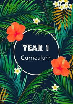 Year 1 Curriculum Book Cover Tropical Theme