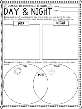 Year 1 Earth and Space Science - Features of Day and Night
