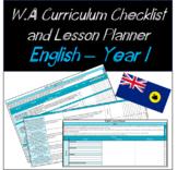 Year 1 English Western Australian Curriculum Checklist and
