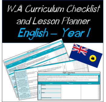 Year 1 English Western Australian Curriculum Checklist and Lesson Planner