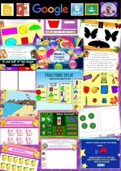 Year 1 Fractions Smart Notebook and Unit of Work Bundle 1