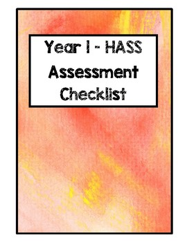 Year 1 HASS Assessment Checklist