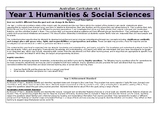 Year 1 HASS Overview - Australian Curriculum v8.3