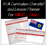 Year 1 HASS Western Australian Curriculum Checklist and Lesson Planner