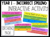 Year 1 - Incorrect Spelling Activity - GROWING PACK