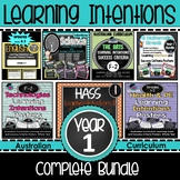 Year 1 Learning INTENTIONS & Success Criteria. All SUBJECTS (Aus. Curric)BUNDLE!