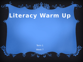 Year 1 Literacy Warm Up Term 1 Week 7