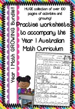 Year 1 Math Worksheets - Growing Bundle