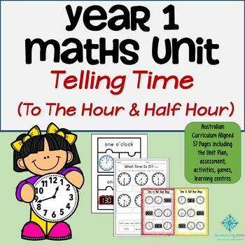 Year 1 Maths Program - Time To The Half Hour