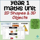 Year 1 Maths Unit - 2D Shapes and 3D Objects