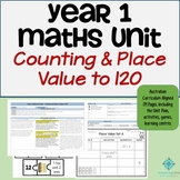 Year 1 Australian Curriculum Maths - Number & Place Value to 120