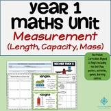 Year 1 Maths Measurement Program - Length, Capacity, Mass