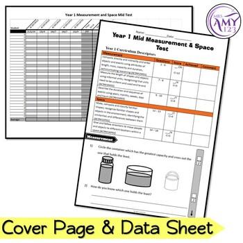 Year 1 Measurement & Geometry Maths Test Pack- Australian Curriculum