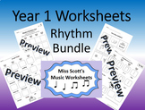 Year 1 Music Worksheets {Rhythm}