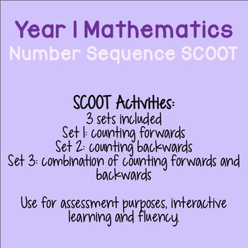 Year 1 Number Sequence SCOOT (ACMNA012)
