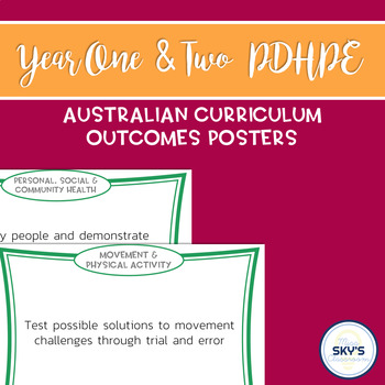 Year 1 & 2 PDHPE Outcomes Posters - AUSTRALIAN CURRICULUM