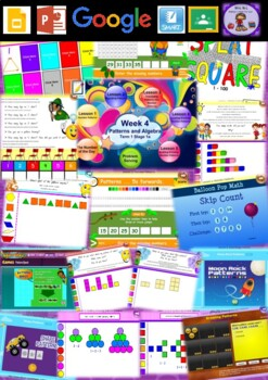 Year 1 Patterns and Algebra Smart Notebook and Unit of Work Bundle 1