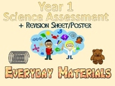 Year 1 Science Assessment: Everyday Materials + Poster