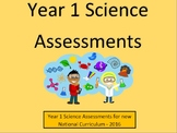 Year 1 Science Assessments and Tracking