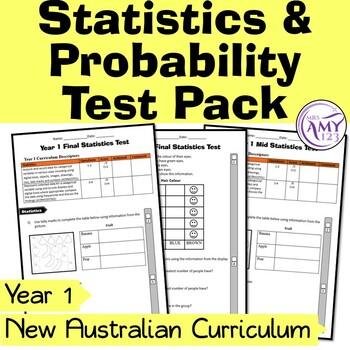 Year 1 Statistics & Probability Maths Test Pack- Australia