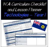Year 1 Technologies Western Australian Curriculum Checklis
