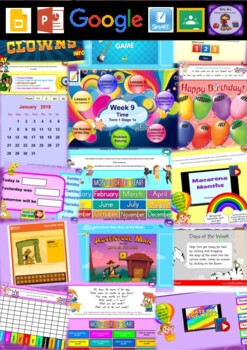 Year 1 Time Smart Notebook and Unit of Work Bundle 1