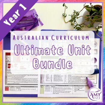 Year 1 Ultimate Bundle- Australian Curriculum Units & Mathematics Tests