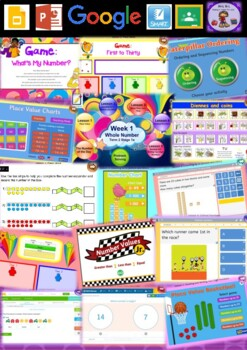 Year 1 Whole Number Smart Notebook and Unit of Work Bundle 2