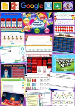 Year 1 Whole Number Smart Notebook and Unit of Work Bundle 4