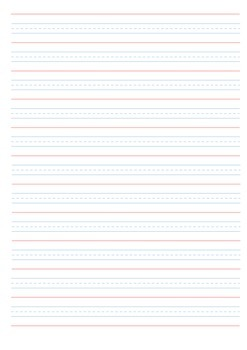 Year 1 Writing Paper - Queensland Lined Paper - Portrait