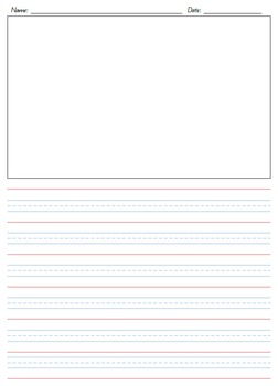 Year 1 Writing Paper Set - Queensland Lines - Portrait/Landscape