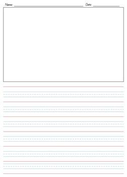 Year 1 Writing Paper Set - Queensland Lines - Portrait/Landscape