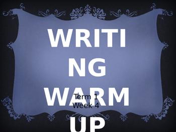 Year 1 Writing Warm Up Term 1 Week 4