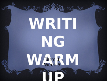 Year 1 Writing Warm Up Term 1 Week 5