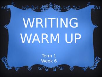 Year 1 Writing Warm Up Term 1 Week 6