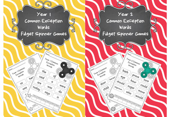 Year 1 and 2 Common Exception Words - Fidget Spinner Games