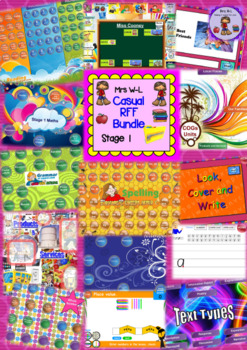 Year 1 and 2 / Stage 1 Casual RFF Smart Notebook Bundle