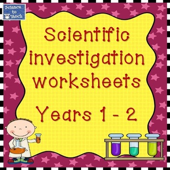 Year 1 and 2 customisable scientific investigation worksheets