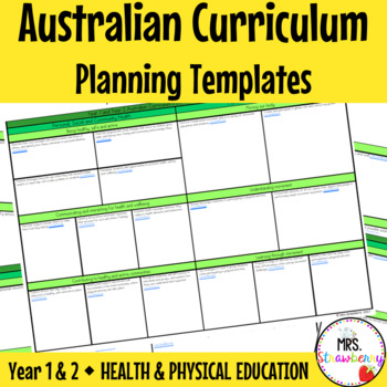 Year 1 and Year 2 Australian Curriculum Planning Templates