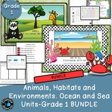 Ocean Life or Sea and Animal Unit Bundle Grade 1